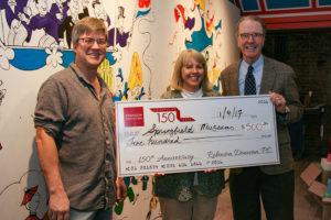 Robinson Donovan Presents Check to Springfield Museums