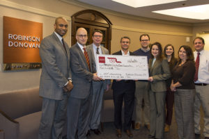 Robinson Donovan Presents Check to the Hampden Country Bar Association